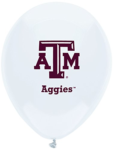 Texas A&m Decorations (Pioneer Balloon Company 10 Count Texas A & M Latex Balloon, 11