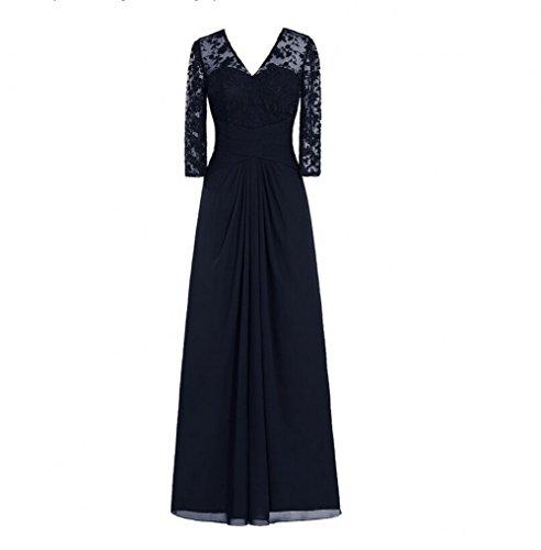 Navy Kleid KA Mädchen Beauty KA Beauty w47q1Px