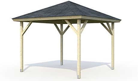 ITALFROM Cenador de Madera Pergola Enrejado tettoia Pabellones de Madera de jardín – mq7,8: Amazon.es: Hogar