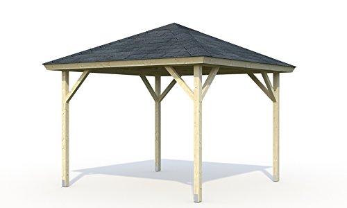Pavillon aus Holz Pergola Pergola Seilspann-Vordach Holz Garten–mq7,8