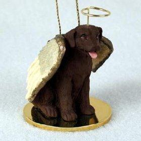 (Labrador Retreiver Angel Dog Ornament - Chocolate)