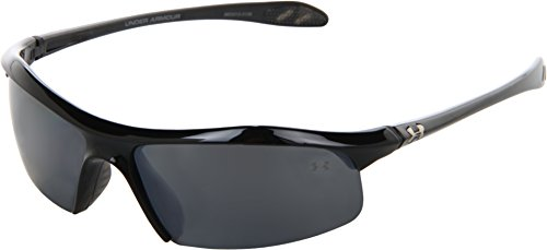 (Under Armour Zone Sunglass Shiny Black Frame W/ Gray Polarized W/ Multiflection Lens)