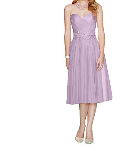 La Abendkleider Partykleider Pfirsisch Flieder Ballkleider Herzausschnitt Festlichkleider Braut Marie 2019 Knielang r1wYrqC