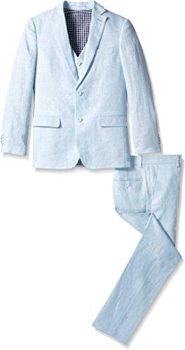 Isaac Mizrahi Boys' Big 3 Piece Linen Suit,
