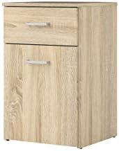 Tvilum Space Drawer, 1 Door Nightstand, Oak Structure