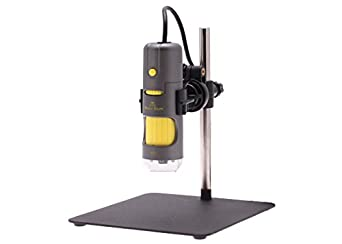 Aven 26700-200 Digital Handheld Microscope, 10x-200x Magnification, Upper LED Illumination, With Stand, Includes 1.3MP Camera