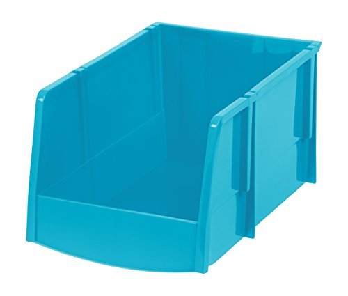 Jumbo Stacking Bin (IRIS Jumbo Storage Bin, Teal, 6 Pack)