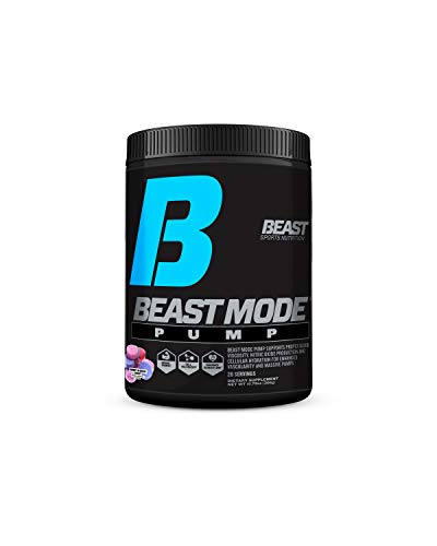 Beast Mode Pump- Stimulant-Free Nitric Oxide Formula Mega Dosed with 8 Powerful Ingredients Including L- Citrulline, GlycerSize™, VasoDrive-AP®, Betaine Anhydrous & More. Sweet & Sour Candy, 10.79 OZ