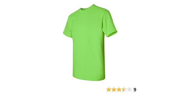 Gildan Heavy Cotton - Camiseta para hombre de algodón verde verde lima large: Amazon.es: Ropa y accesorios