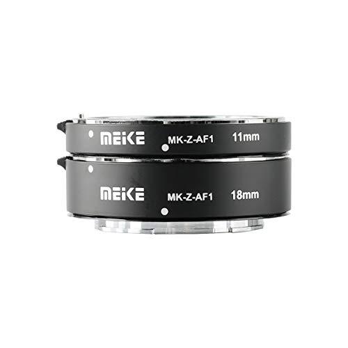Meike MK-Z-AF1 Metal Auto Focus Macro Extension Tube Adapter Ring (11mm+18mm) Compatible with Nikon Z5 Z6 Z7 Z50 Z6II Z7II