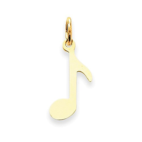 Jewelry Adviser Charms 14k Polished Musical Note Charm