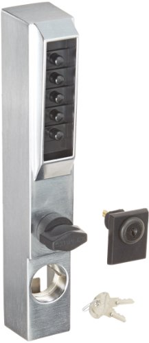 Kaba 3001-26D-41 Narrow Stile Lock With Thumbturn Us26D, Satin Chrome by Simplex