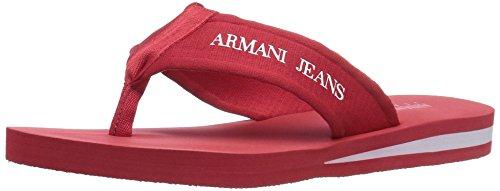 Jeans Uomo Armani Jeans Infradito Sandalo Rosso
