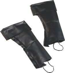 [Black Pirate Boot Top Covers] (Pirate Costumes Boot Covers)