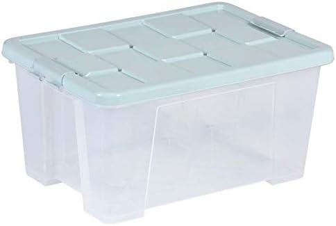 Caja de almacenamiento de plástico grande Caja de almacenamiento seca antideslizante a prueba de polvo europea Adecuada para almacenar ropa, juguetes, cosméticos, una amplia gama de cajas de almacen: Amazon.es: Hogar