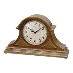 Rhythm USA Joyful Remington Mantel (Brown Oak Tambour Clock)