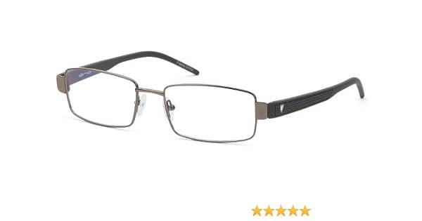 a295cb79d30 Amazon.com  Mens Rectangular Glasses Frames Gunmetal Prescription  Eyeglasses Rxable 54-18-140  Clothing