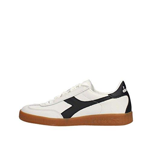 Sneakers DIADORA Uomo game low waxed pelle bianco blu, nuova collezione autunno inverno 2017/2018 BIANCO/BLU MAIOLICA