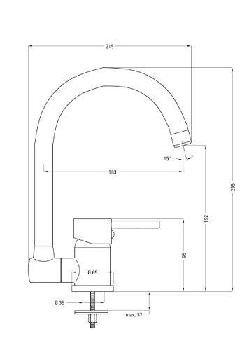 Design Spültischarmatur für die Vor Fenster Montage klappbar ...