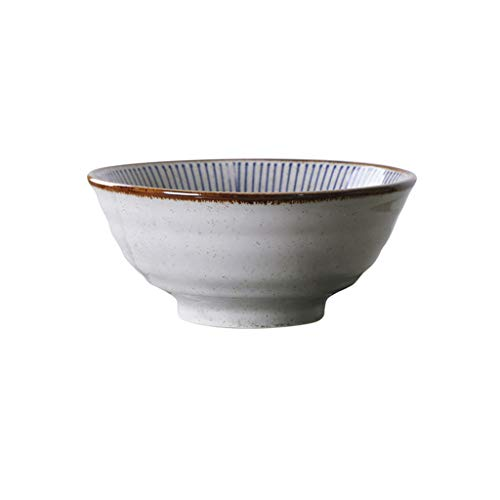 JIANMING Bowls 40-Ounce Large And White Porcelain Soup,Salad,Pasta Serving, Assorted Floral Patterns
