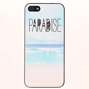 HP- Patrones PARADISE Seabeach PC caso duro para el iPhone 5/5S