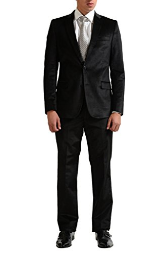 Versace Collection Men's Black Velour Two Button Suit for sale  Delivered anywhere in USA