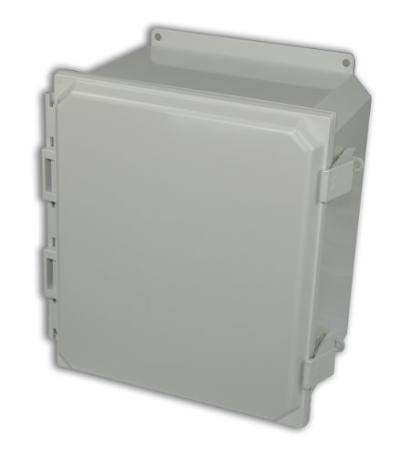 Allied Moulded AMP1426NLF Polyline Series Polycarbonate JIC Size Junction Box, Nonmetalic Snap Latch with Polycarbonate Flange and Hinged Opaque Cover