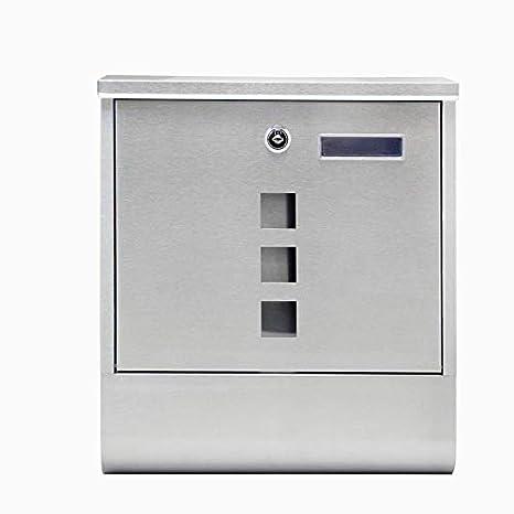 LARS360 Cassetta Postale Cassetta delle lettere Cassette da esterno in Acciaio Cassette Postali con Fissaggio a Parete 11 x 30 x 40 cm Con 2 Chiavi Argento Cassetta Postale