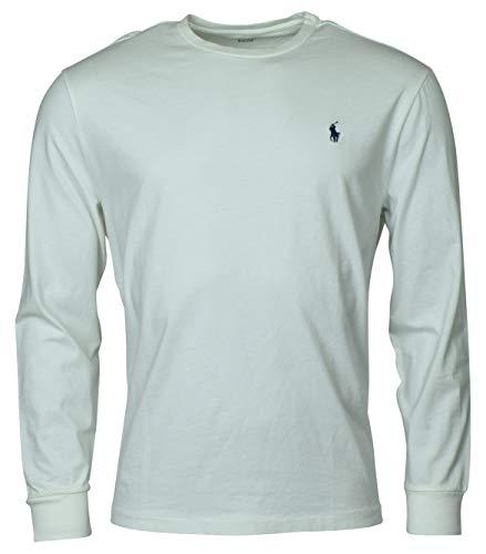 Polo Ralph Lauren Mens Long Sleeve Crewneck Logo T-Shirt - L - White ()