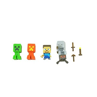 Fisher-Price Replacement Parts for Minecraft Stop-Motion Movie Creator CMH76 - Includes 4 Figures and 3 Tools: Toys & Games