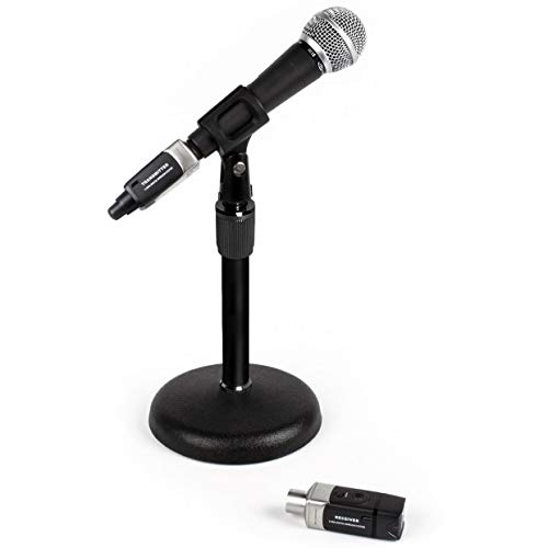 - Desktop Wireless Paging Microphone Package with Pure Resonance Audio UC1S Vocal Mic, Plug-On U3 Digital Wireless System and Table Top Stand (3 Items)