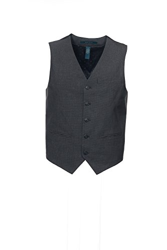 Button Welt Pockets (Perry Ellis Men's Big-Tall 5 Button Welt Pocket Vest Big and Tall, Slate, Small)