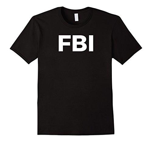 Mens FBI Halloween Costume T-Shirt XL Black