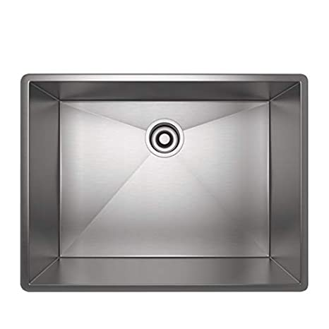 Rohl RSS2418SB 24-Inch Kitchen Sink with Tangent Edge ...