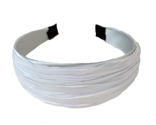 Cool White, Super Gorgeous Gathered Hard Headband By Bargain - Headwear Cool