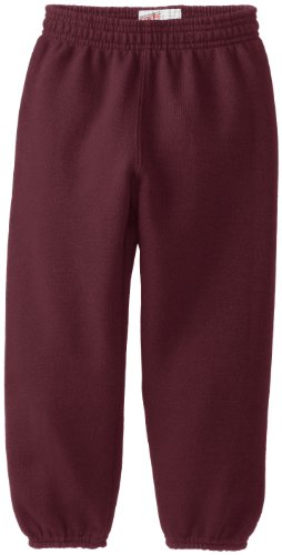 Soffe Little Boys' Heavyweight Sweat Pant, Maroon, Large