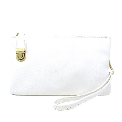 White Solene Functional Multi Crossbody Compartment Bag Womens Bag Shoulder rgq8PgxFnW