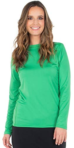 HYPOSIA Super Soft Long Sleeve Women's T Shirt Underscrub Comfort Stretch Relaxed Fit Green Active Iv Soft Shell