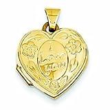 PriceRock 14K Gold I Love You Heart Locket