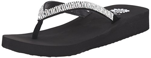 Yellow Box Women's Zemily Sandal, Clear, 7.5 Medium - With Yellow