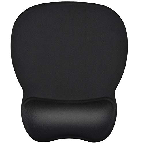 MROCO Mouse Pad with Gel Wrist Rest Mousepad with Non-Slip PU Base Mouse Mat Ergonomic Mouse Pad with Wrist Support Mouse Pad Wrist Rest for VicTsing Pictek Logitech Razer Mouse 9.45 x 8 inch Black