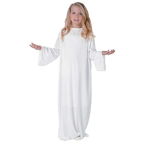 Polyester White Angel Gown. Each piece bar coded. (1 pc./PB with color insert) Child Large (11-14). ()