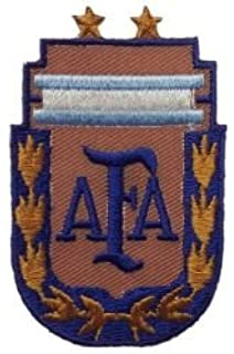 Argentina AFA with Gold Leaf Fifa World Cup Soccer Iron on Patch Crest Badge .