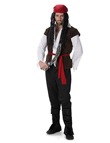 Pirate Captain Costume Set - Halloween Mens High Seas Villain Lord, Medium