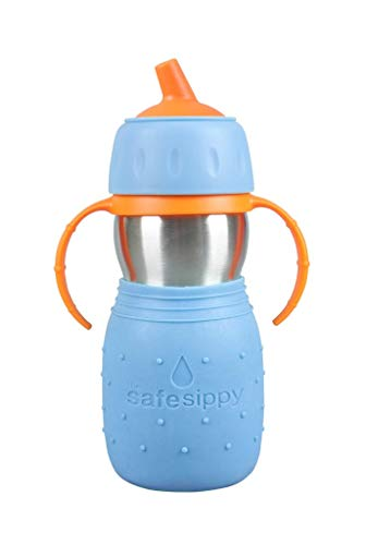 Kid Basix by New Wave Safe Sippy - Toddler Stainless Steel Sippy Cup (No Straw)