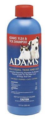 Adams Flea & Tick Cleansing Shampoo with Pyrethrin, 12-ounce