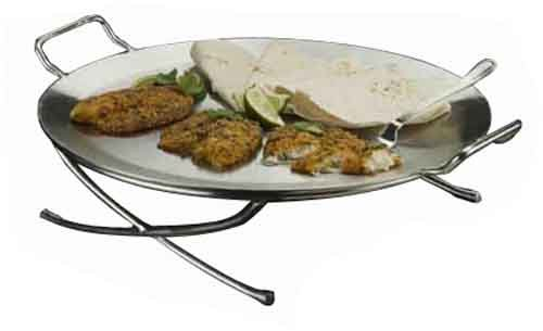 American Metalcraft GSST17 Round Stainless Steel Griddle with Handle by American Metalcraft