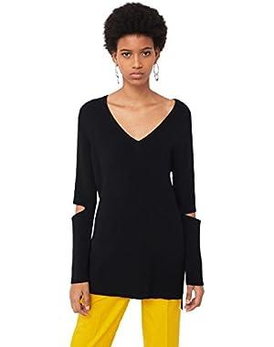 Mango Women's Decorative Side Slit Sweatshirt