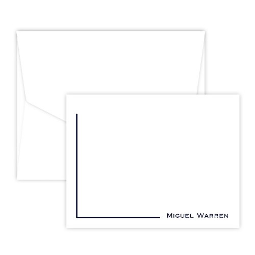 Personalized Corner Card - Raised Ink (White)