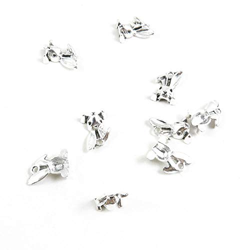 (260 Pieces Antique Silver Plated Jewelry Charms Findings Fashion Craft Making Crafting X7JM6Z Rabbit Hare Head)